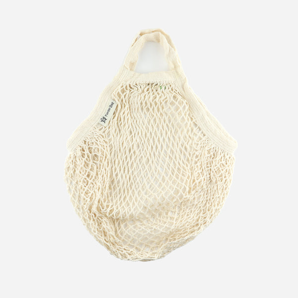 Beige Organic Short Handled String Bag - Artysan
