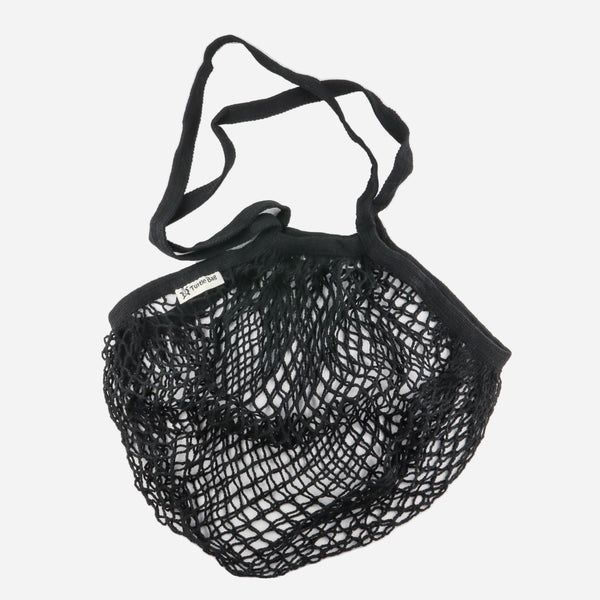 Black Organic Long Handled String Bag - Artysan