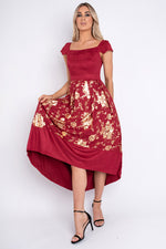 Ross Red Velvet Dress