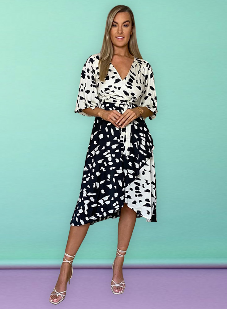 Alice Short Kimono Sleeve Wrap Dress