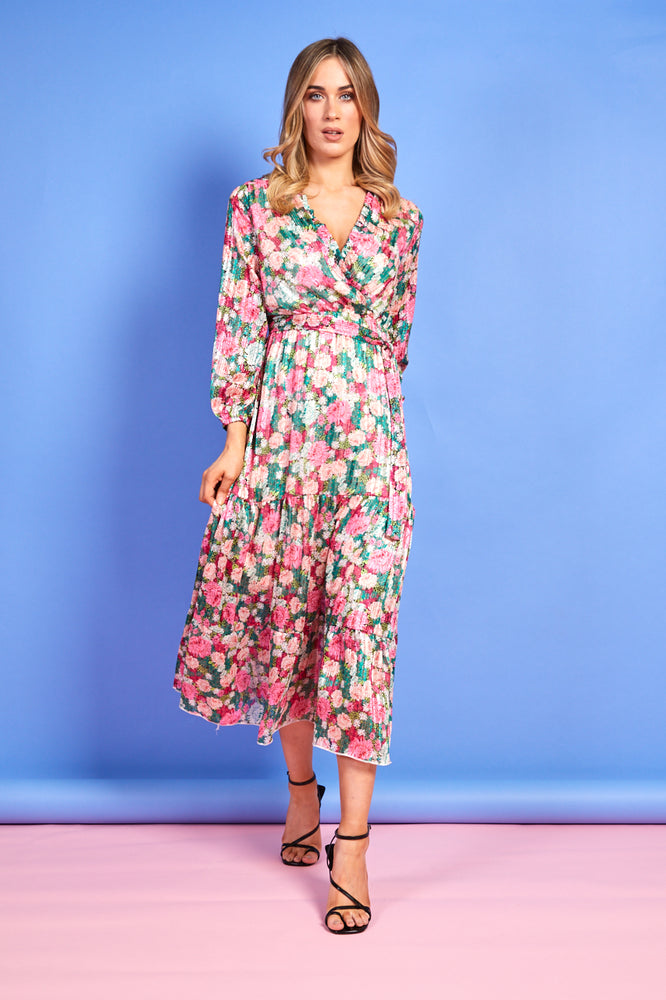 Sophie Green and Pink Floral Dress