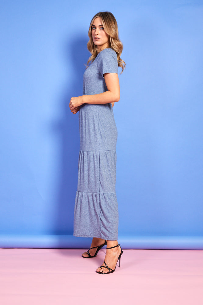 Tina Blue Maxi Dress