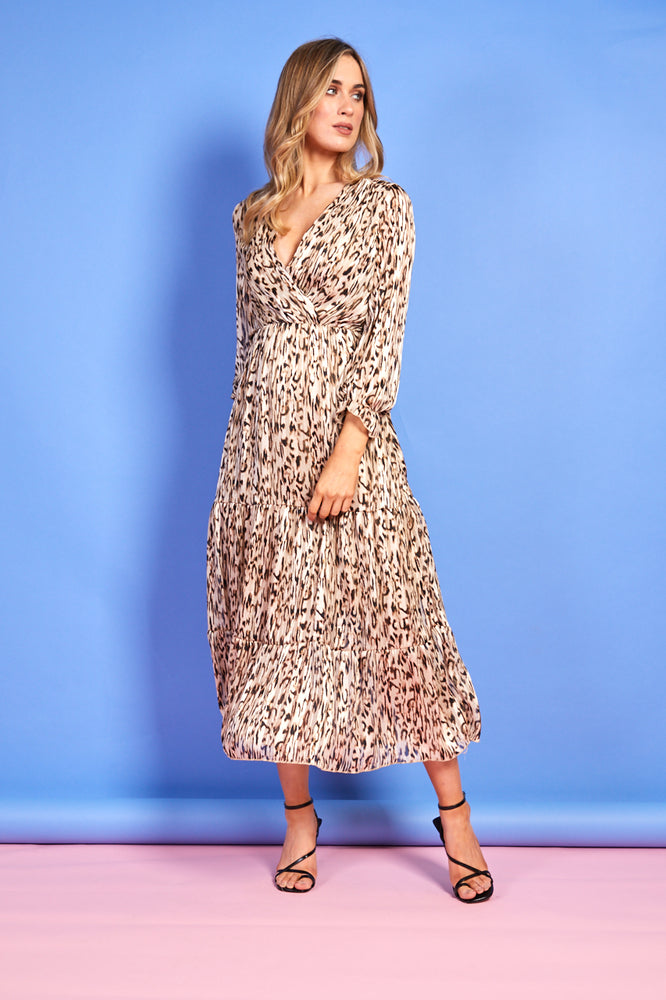 Christelle Cheetah Print Dress
