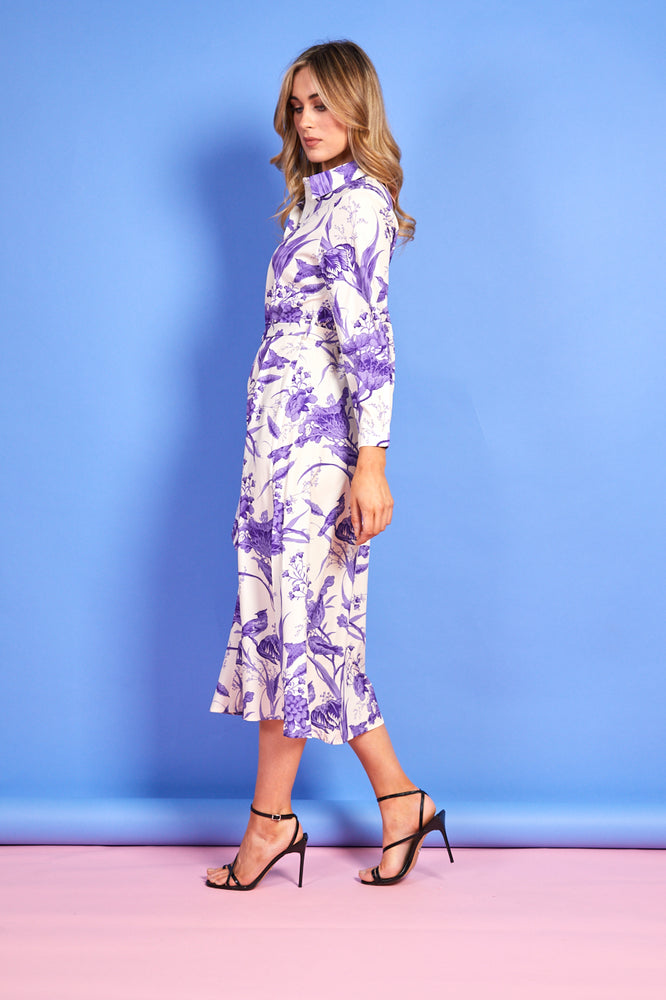 Gina Printed Dress - Lilac