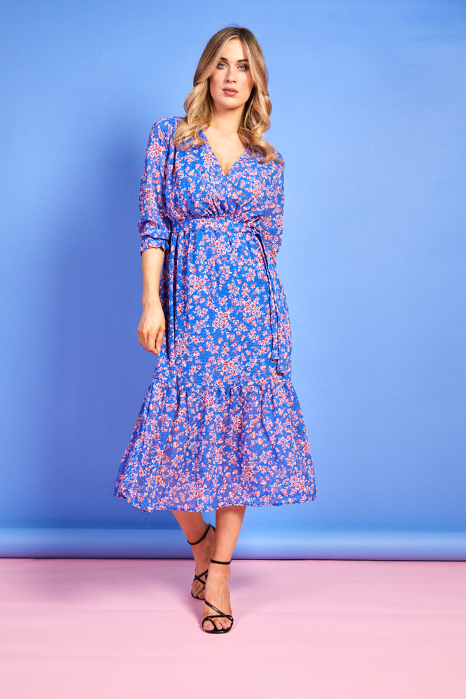 Maggie Blue Floral Dress