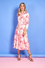 Gina Printed Dress - Pink