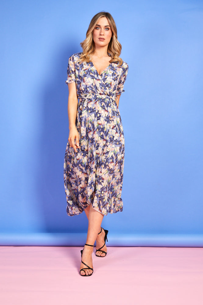 Judy Blue Floral Wrap Dress