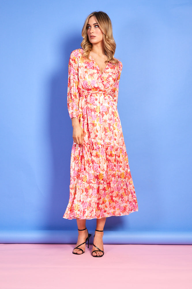 Sophie Orange and Pink Floral Dress