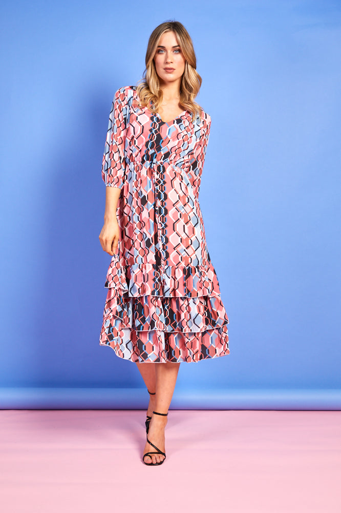 Gia Ruffle Print Dress