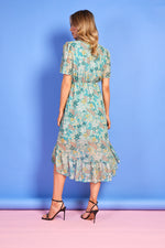 Maddie Green Summer Print Dress