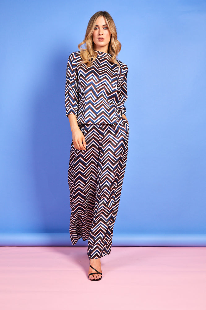 Zoe Striped Satin Trousers