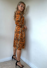 Jess Animal Print Dress - Orange