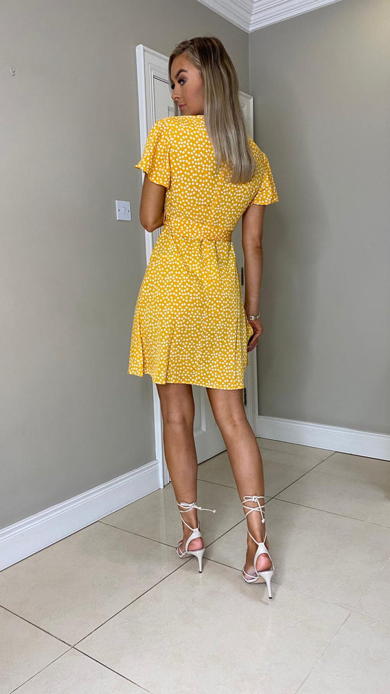 Vicky Floral Print Dress - Yellow