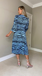 Valentina Animal Print Wrap Dress