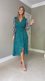 Karen Animal Print Midi Dress