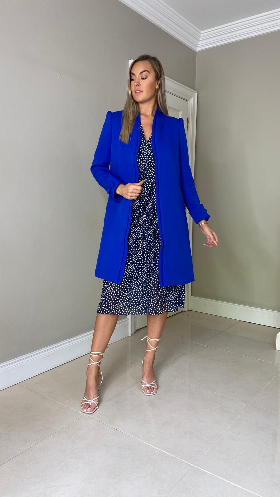 Shirley Coat - Royal Blue
