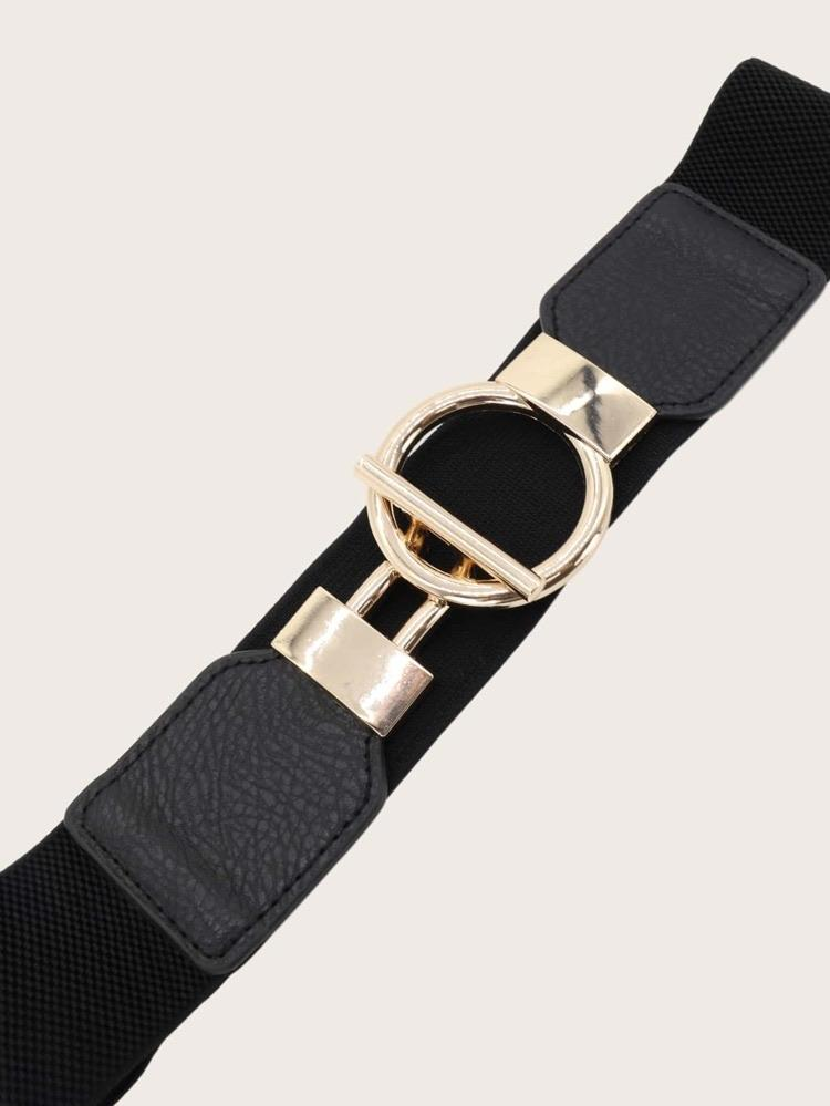 Round buckle obi belt