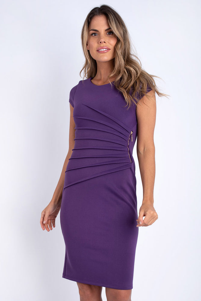 Rachel Purple Bodycon Dress