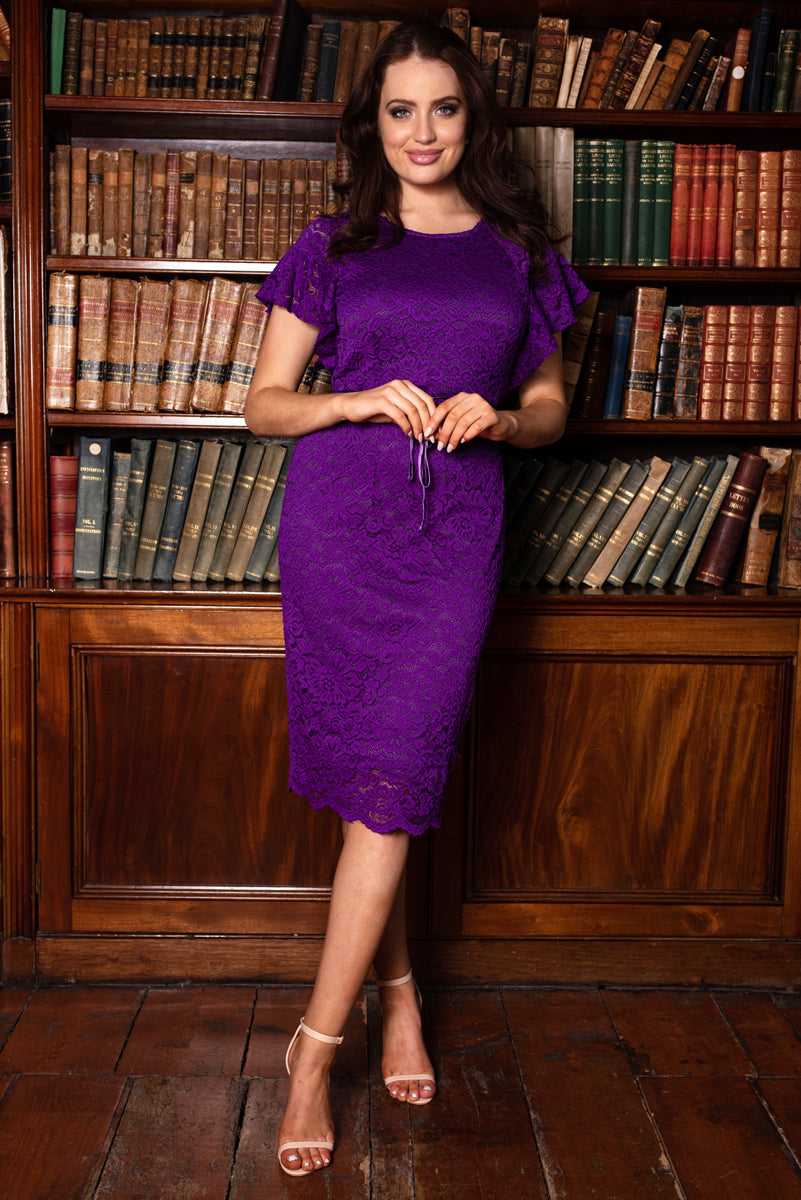 Veronica Purple Lace Dress