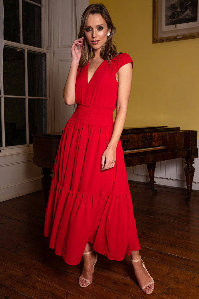 Scarlett Red Maxi Dress
