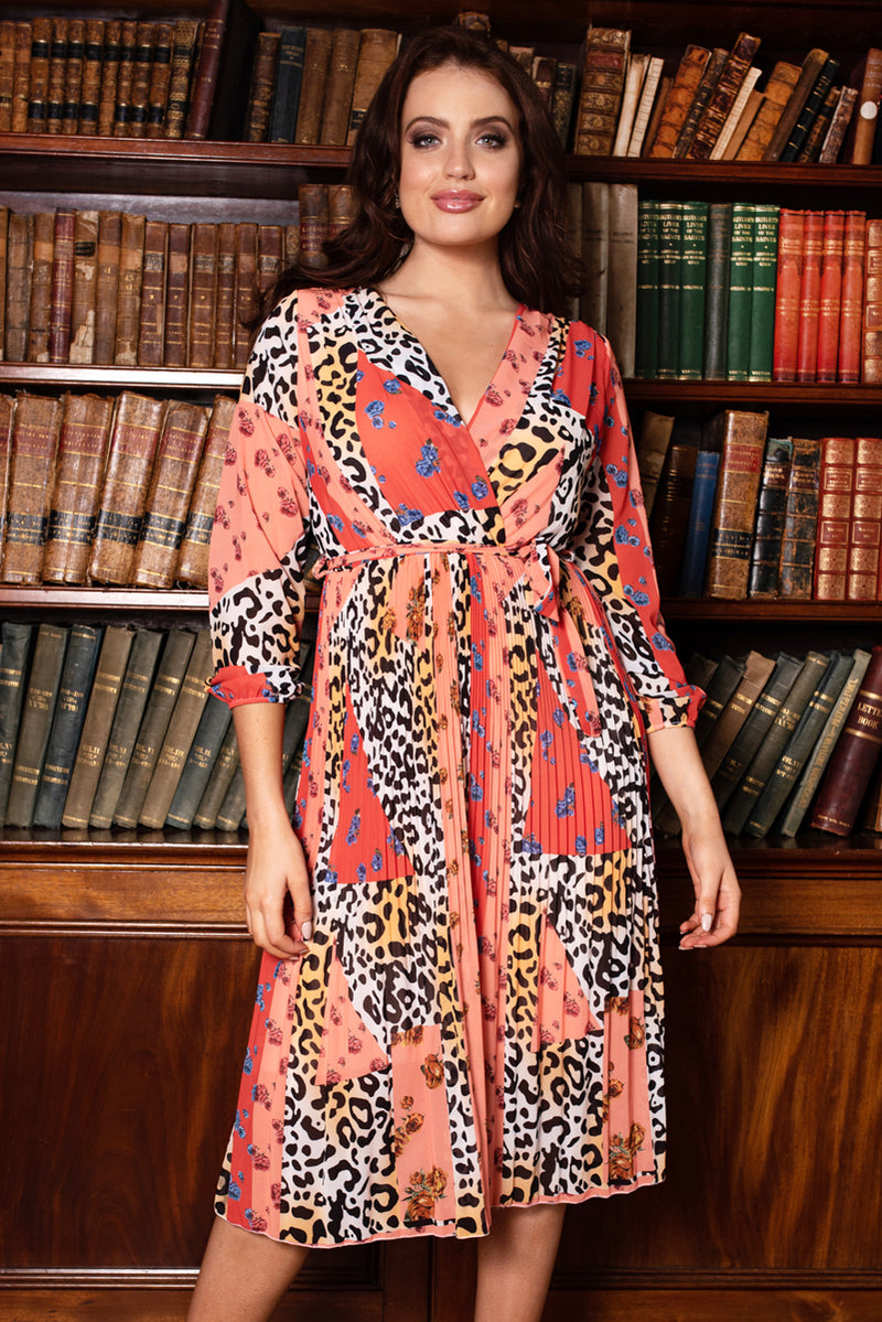 Charlotte Orange Printed Dress