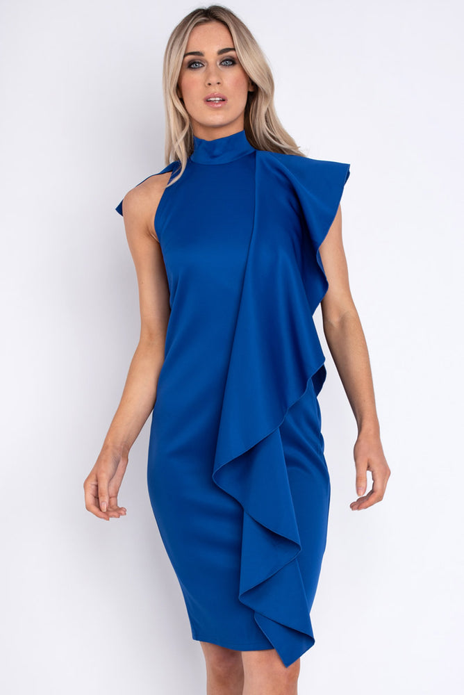 Isadora Ruffle Dress - Blue