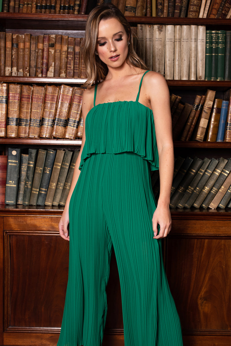 Celeste Pleated Jumpsuit - Green