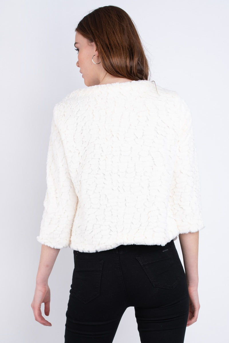 Emma Faux Fur Coat - Cream