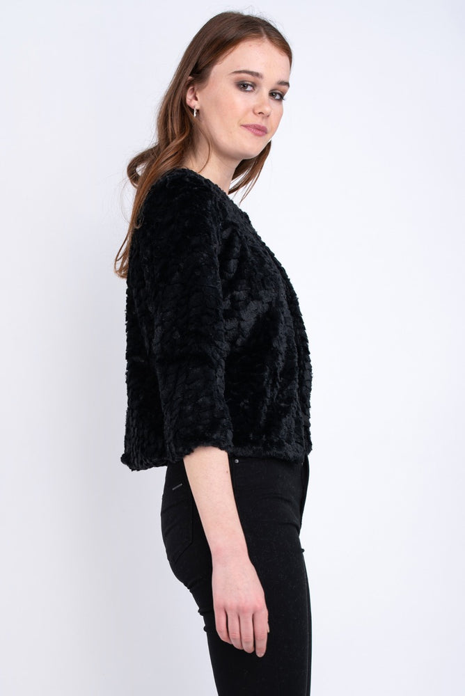 Emma Faux Fur Coat - Black