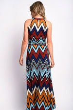 Chevron Print Maxi Dress Multi