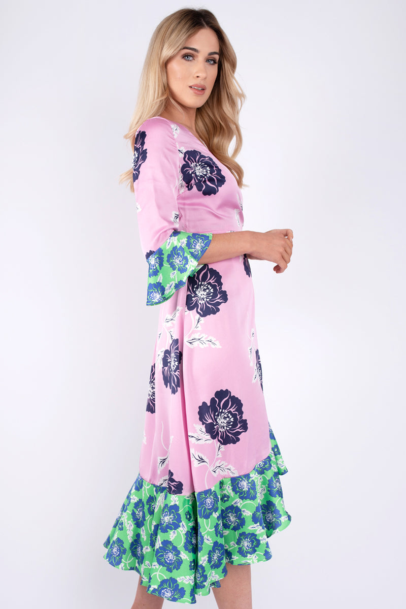 Betty Floral Print Wrap Dress