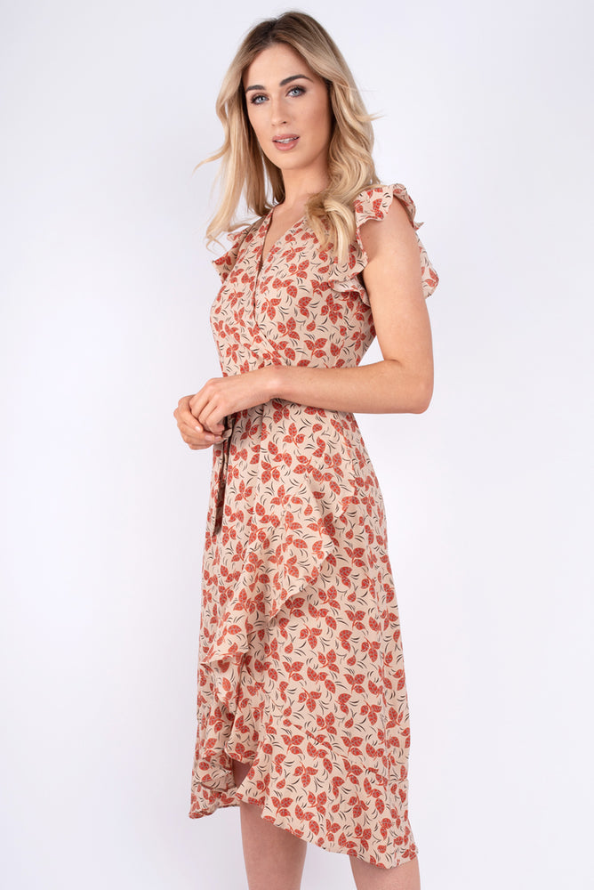 Daphne Wrap Printed Dress