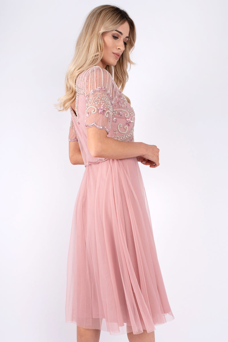 Bella Sequin Tulle Pink Dress