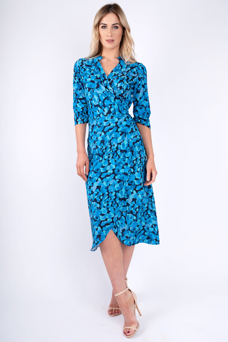 Mabel Wrap Blue Dress