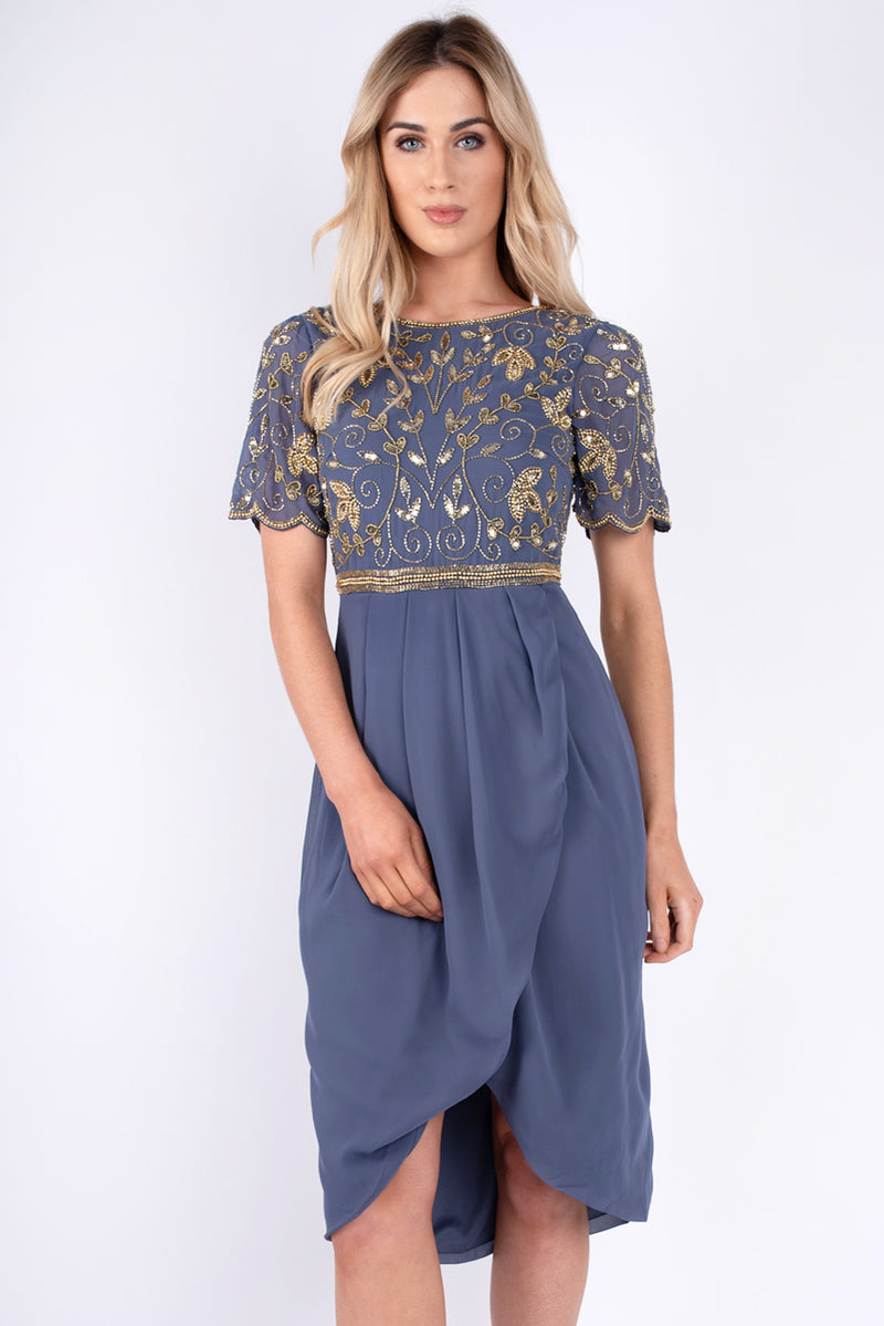Tallulah Sequin Blue Dress