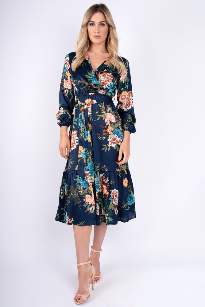 Liana Floral Navy Dress