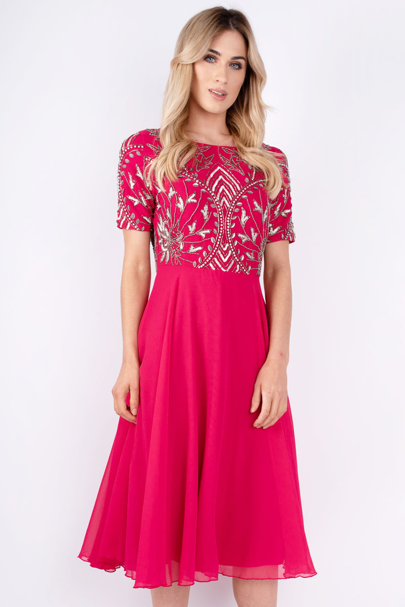 Melissa Embroided Pink Dress