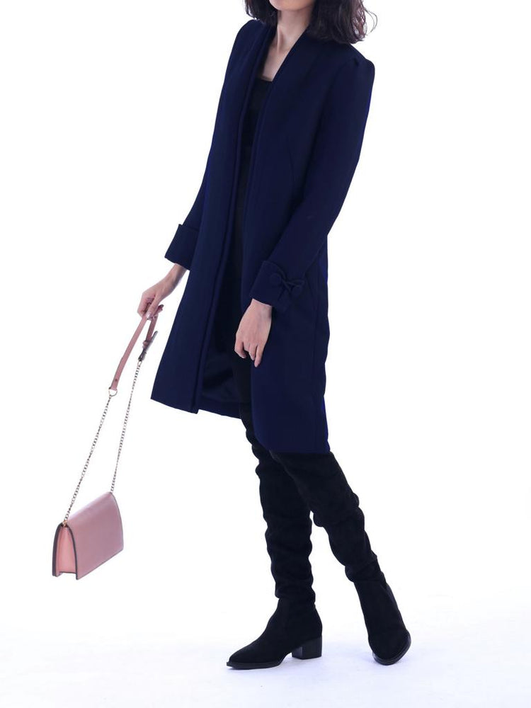 Shirley Coat - Navy