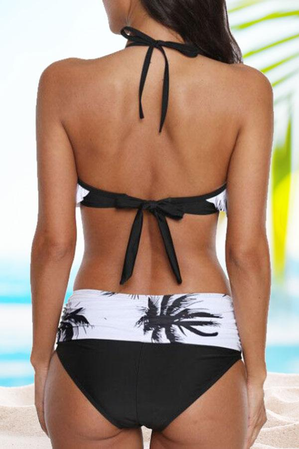 Sexy Natural Print Bikini Swimwear