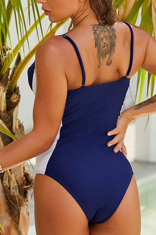 Hit Color Classic One Piece Swimwear