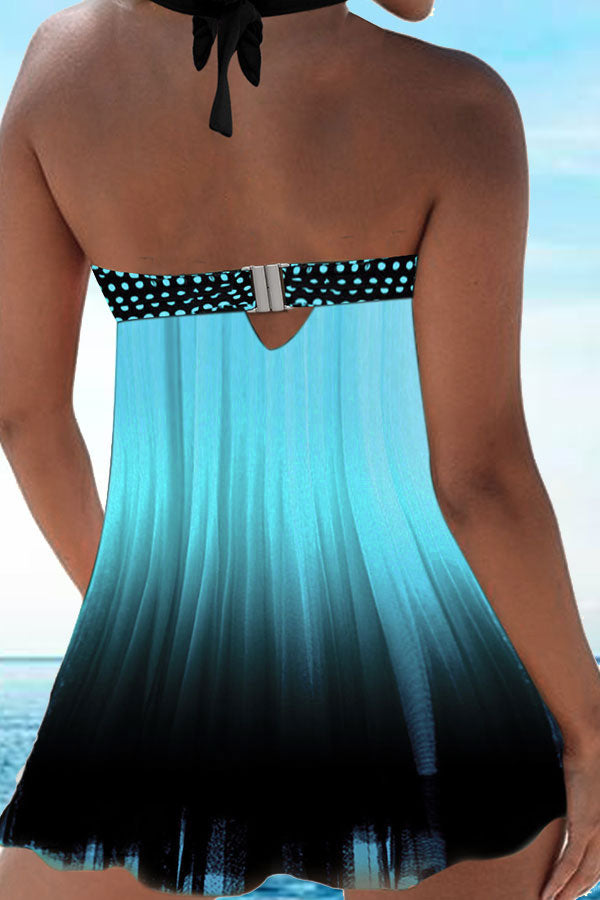 Polka Dot Elegant Swing Tankini Set