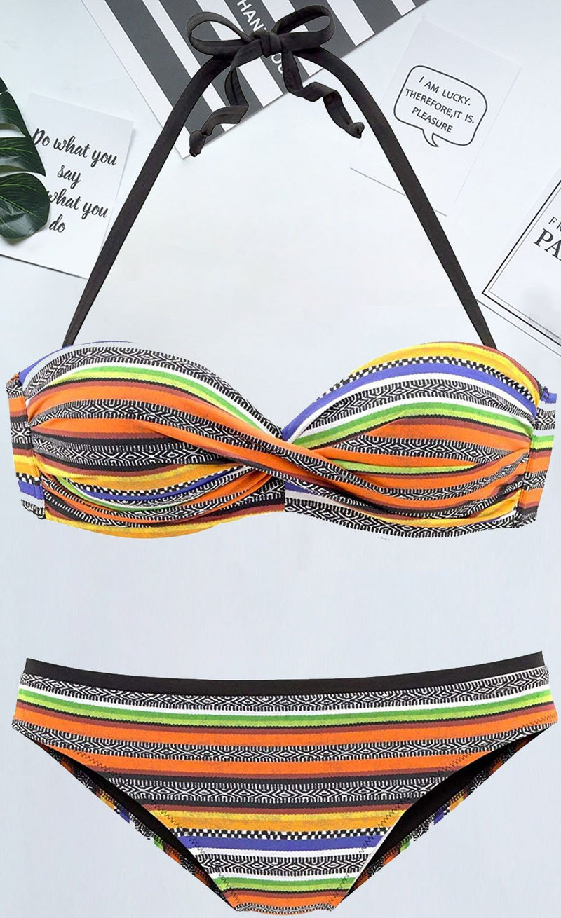Striped On-trend Sexy Bikini