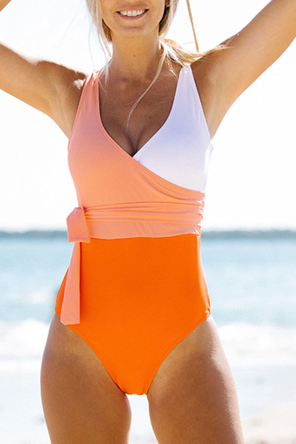 Hit Color On-trend Strappy One Piece Swimwear