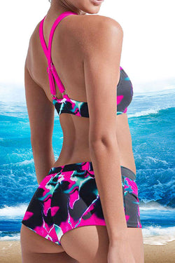 Abstract Print Classic Beach Bikini
