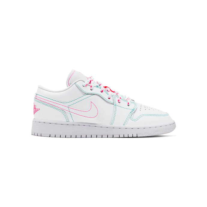 Jordan 1 Low White Green Pink (GS)