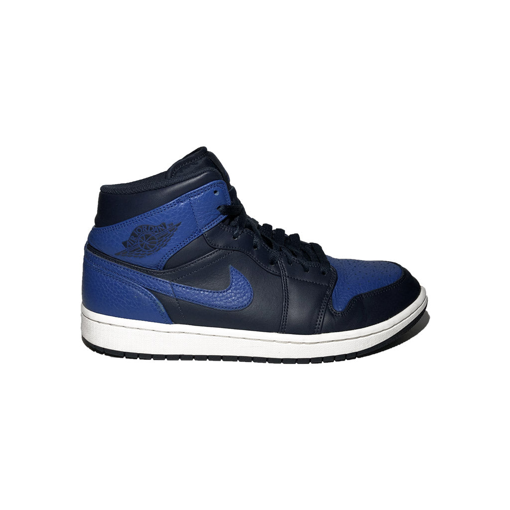 Jordan 1 Mid Obsidian Game Royal