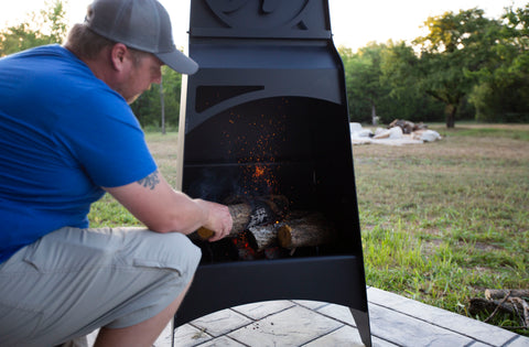 Metal Chiminea Fire Pit