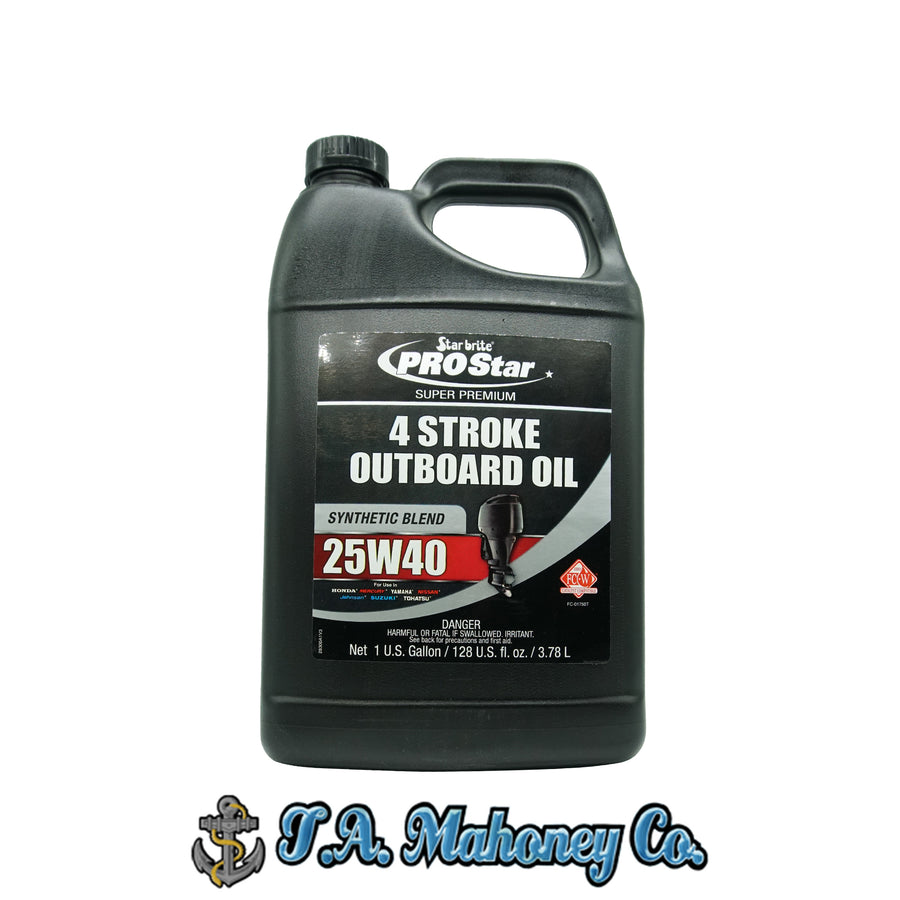 Starbrite PROStar Super Premium 4 Stroke Outboard Oil Synthetic Blend 25W40 1gal.
