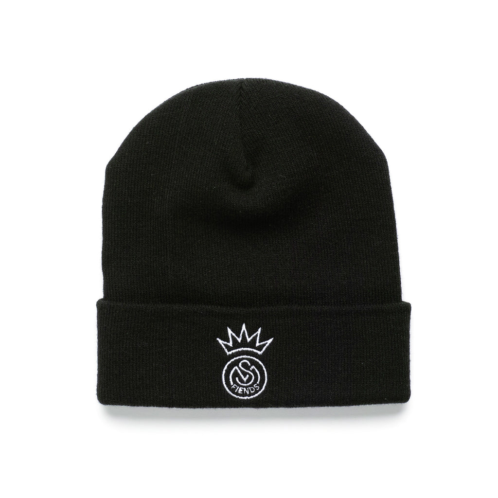 THE BLACK AND WHITE FIENDS BEANIE