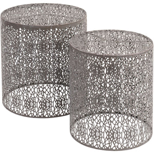 Caprio Set Of Two Grey Nesting Side Tables